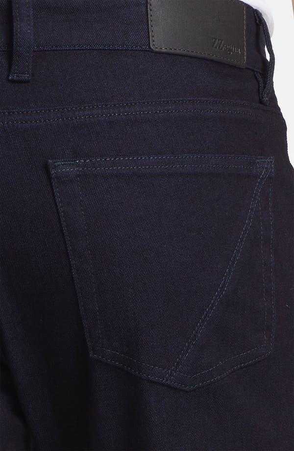 Alternate Image 4  - Z Zegna Straight Leg Jeans (Navy)