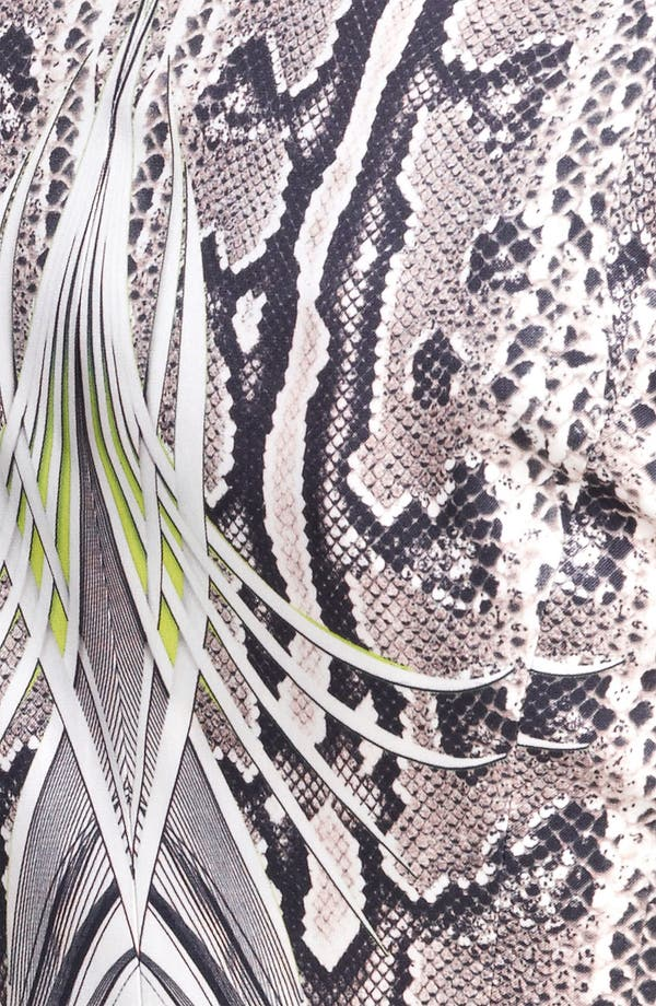Alternate Image 3  - Roberto Cavalli Reptile Print Silk Blazer