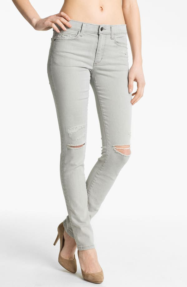 Alternate Image 1 Selected - Joe's 'Cigarette' Straight Leg Stretch Jeans (Light Grey)