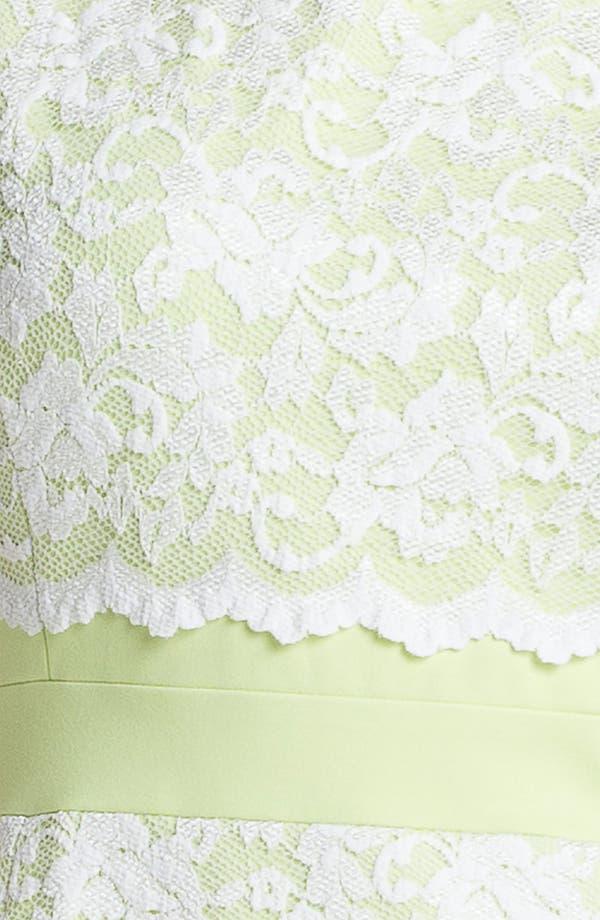 Alternate Image 3  - ABS by Allen Schwartz Lace Front Sheath Dress (Plus Size)