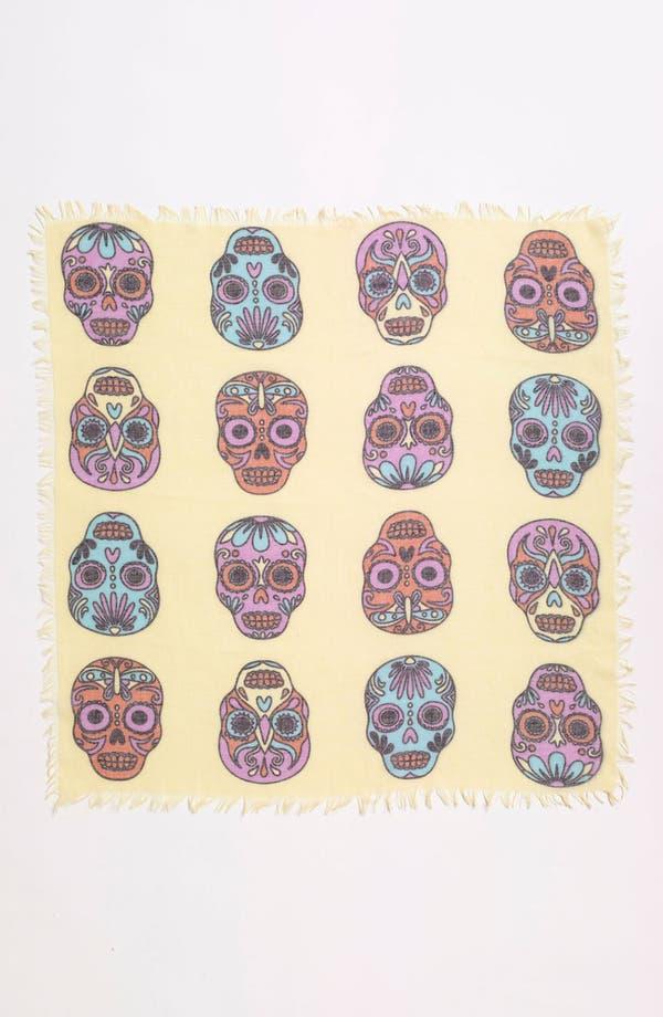 Alternate Image 2  - Hinge® Skull Print Scarf