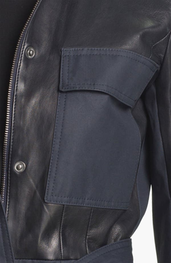 Alternate Image 3  - Theory 'Macaire L.' Cotton & Leather Jacket