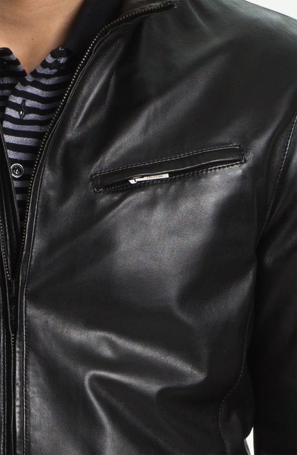Alternate Image 3  - Armani Collezioni Blouson Leather Jacket