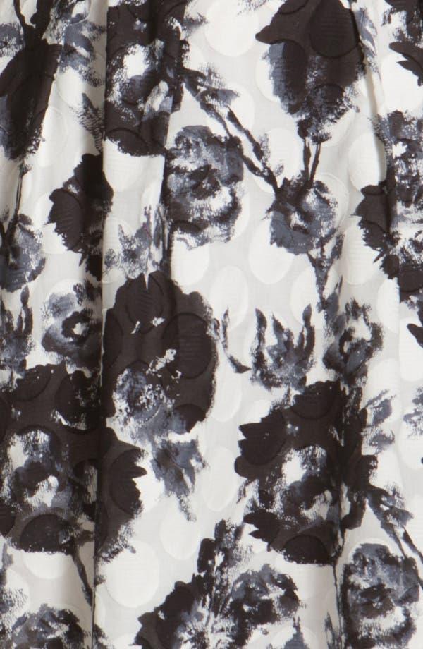 Alternate Image 3  - Donna Ricco Floral Print Fit & Flare Dress (Plus Size)