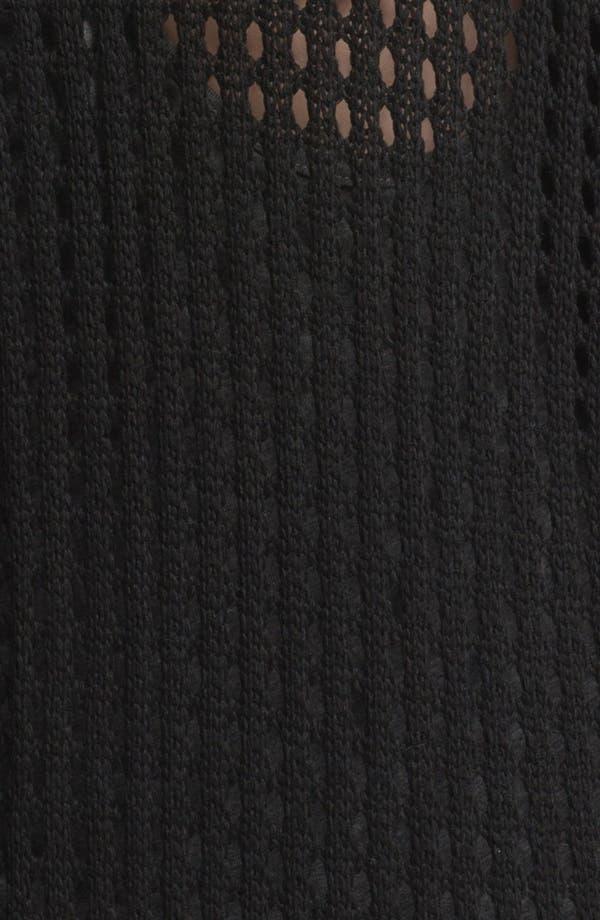 Alternate Image 3  - Cotton Emporium Mesh Knit Oversized Cardigan (Juniors)