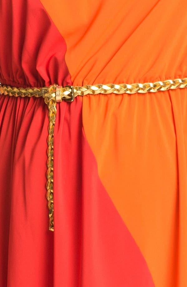 Alternate Image 3  - Calvin Klein Colorblock Chiffon Maxi Dress (Plus Size)