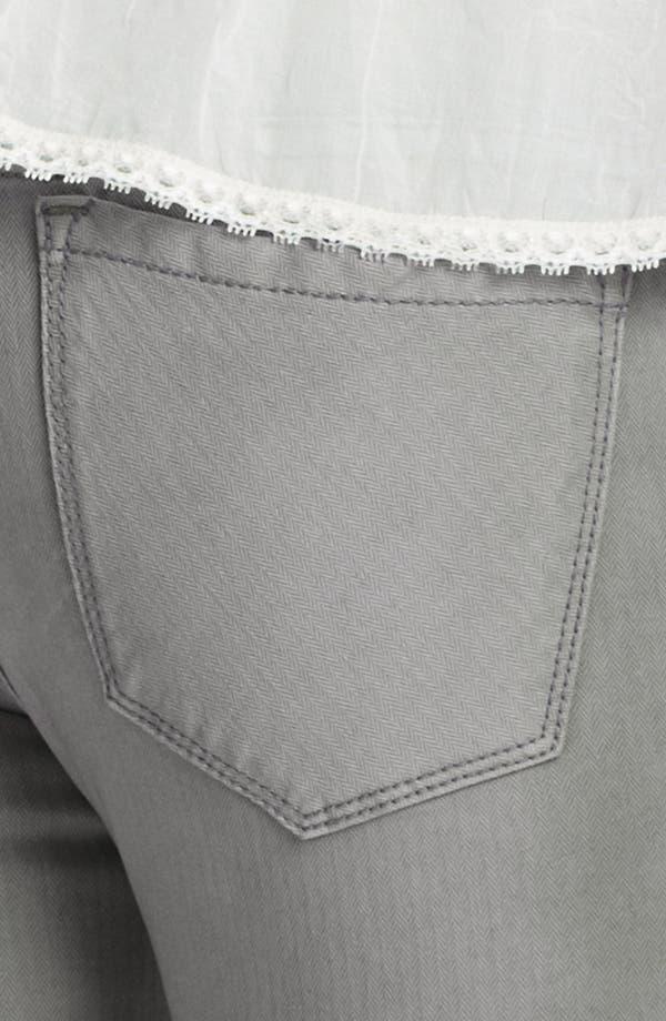 Alternate Image 3  - Free People Crop Stretch Denim Skinny Jeans (Desi Wash)