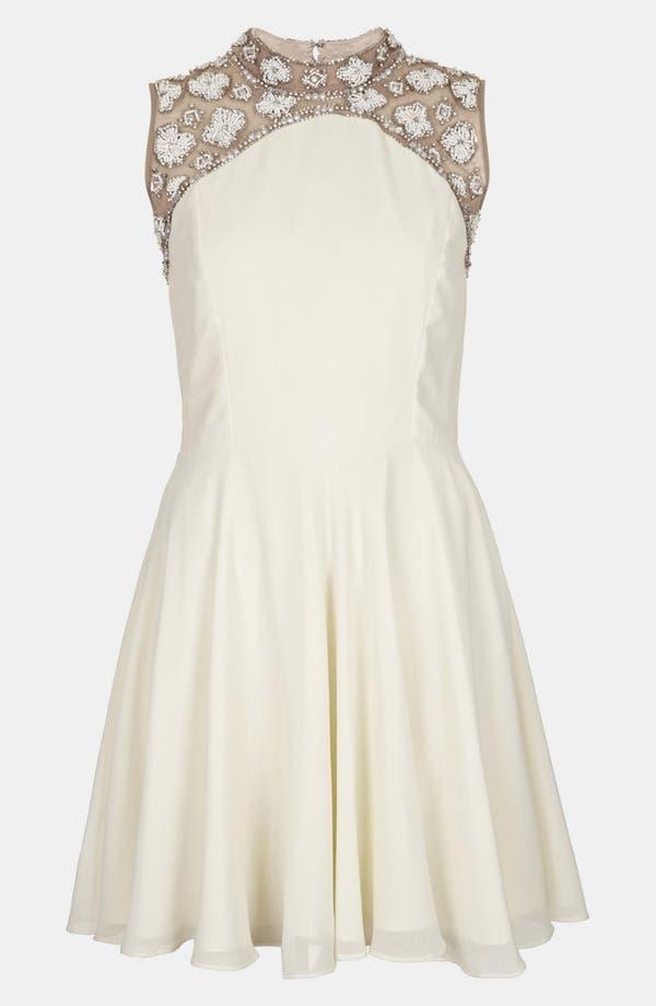 Alternate Image 1 Selected - Topshop Embellished Skater Dress