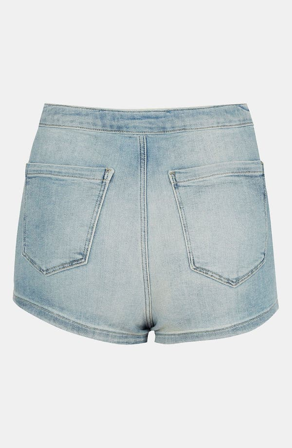 Alternate Image 2  - Topshop Moto 'Francis' Denim Hot Pants