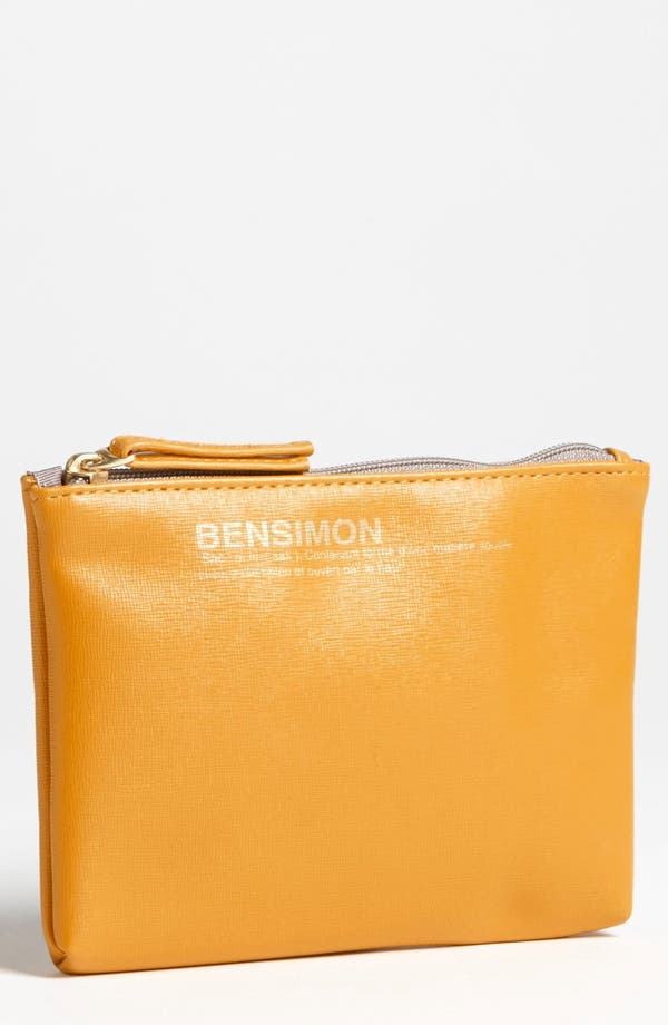 Alternate Image 1 Selected - Bensimon 'Armour' Faux Leather Zip Pouch