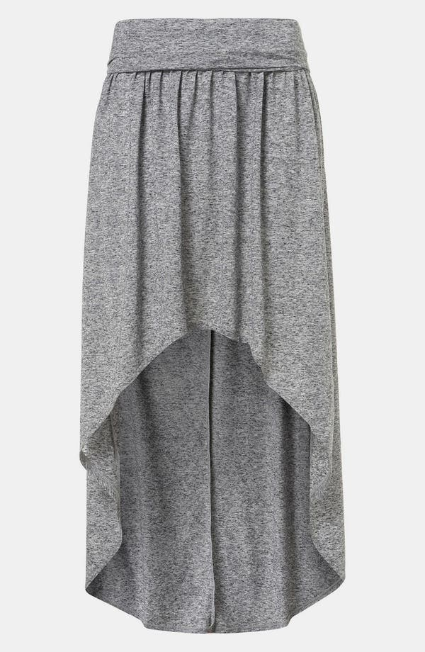 Main Image - Topshop Foldover High/Low Maxi Skirt