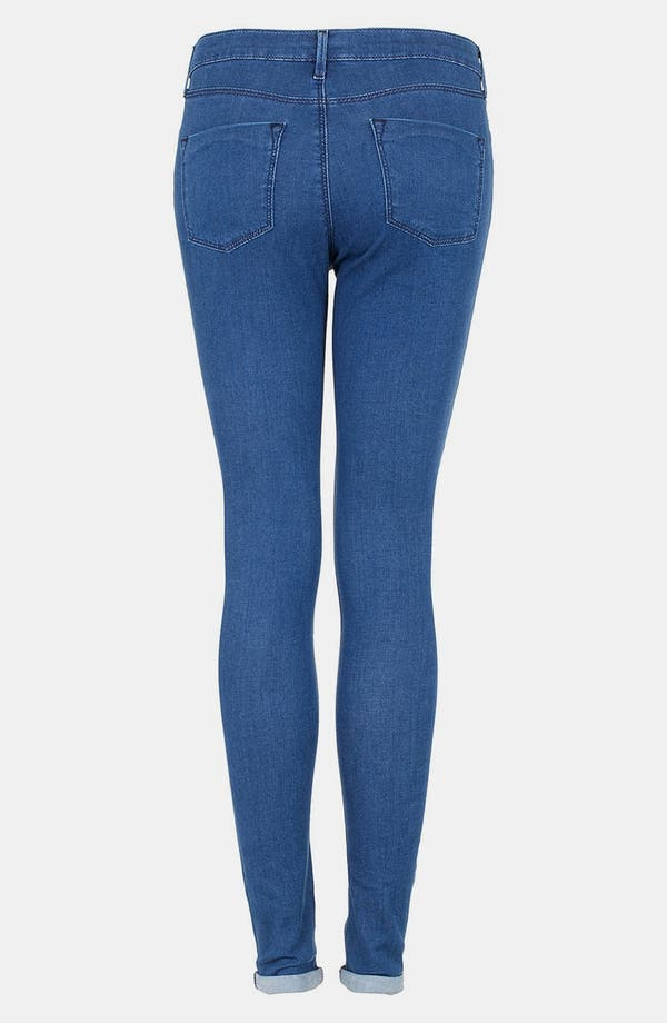Alternate Image 2  - Topshop Moto 'Leigh' Skinny Jeans (Blue) (Regular, Short & Long)