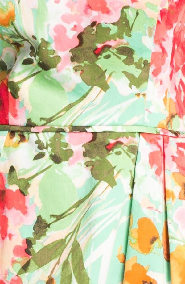Alternate Image 3  - Donna Ricco Floral Print Fit & Flare Dress