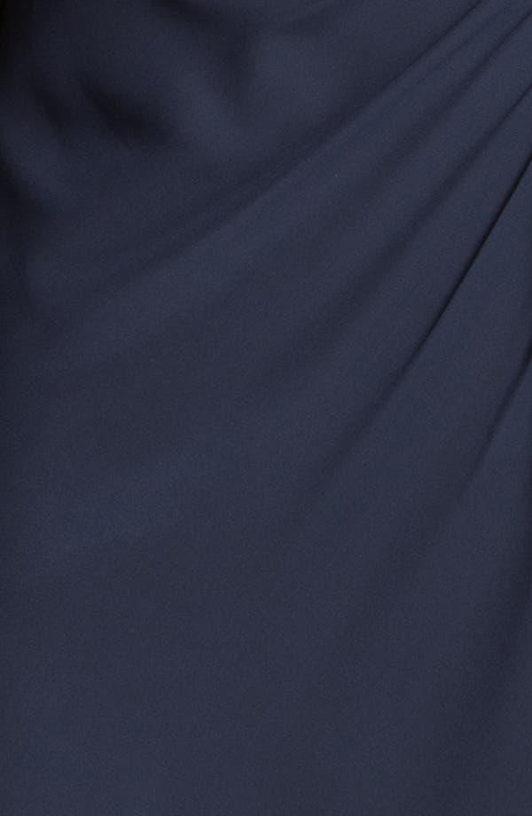 Alternate Image 3  - Faviana Embellished One Shoulder Chiffon Gown & Shawl