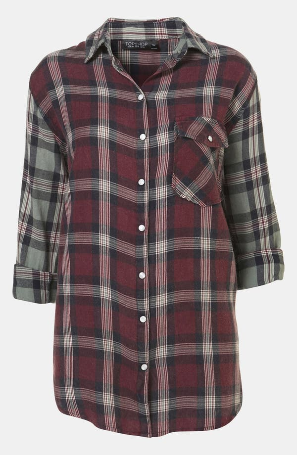Alternate Image 1 Selected - Topshop Check Shirt
