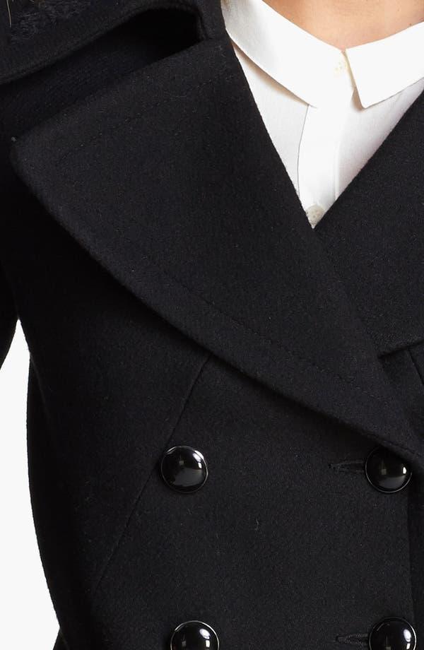 Alternate Image 3  - Trina Turk Double Breasted Officer's Coat (Regular & Petite)