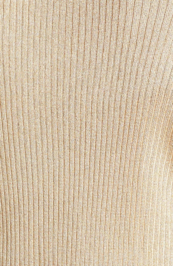Alternate Image 3  - Anne Klein Metallic Ribbed Cardigan (Plus Size)
