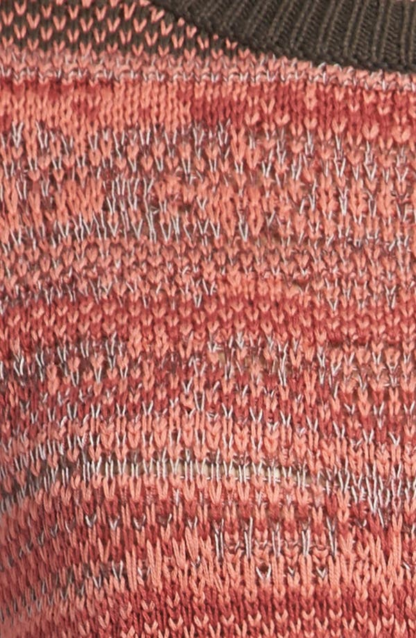 Alternate Image 3  - Leith 'Tattered Stripe' Sweater