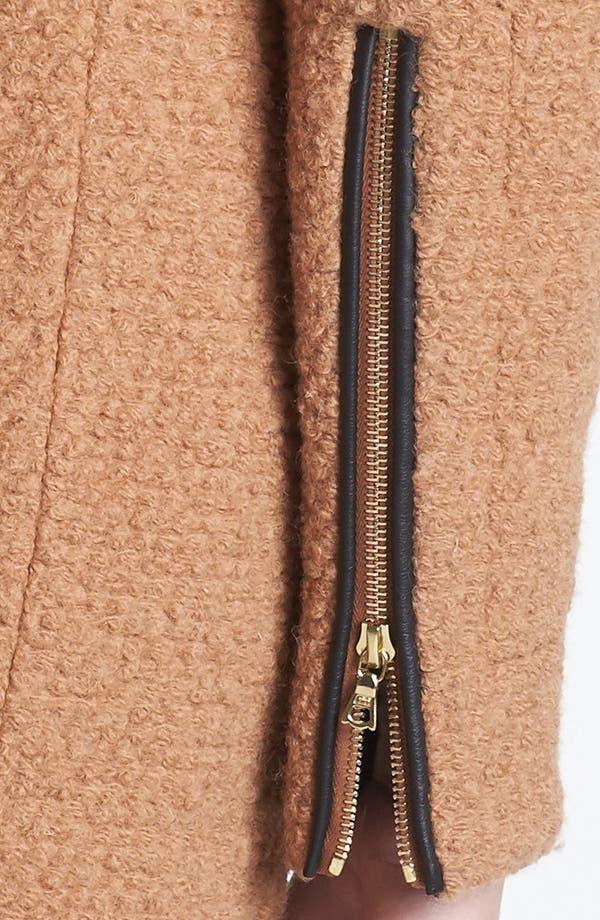 Alternate Image 4  - Calvin Klein Asymmetrical Bouclé Jacket