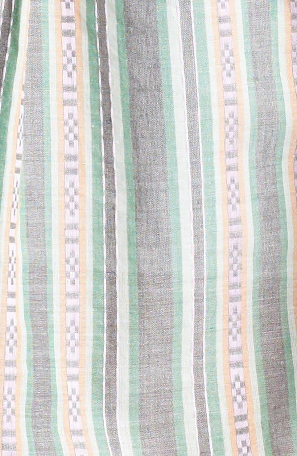 Alternate Image 3  - Lily White Print Sleeveless Henley Shirt (Juniors)