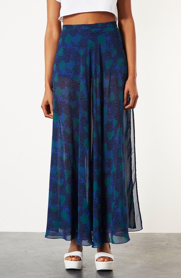 Main Image - Topshop Lace Print Maxi Skirt