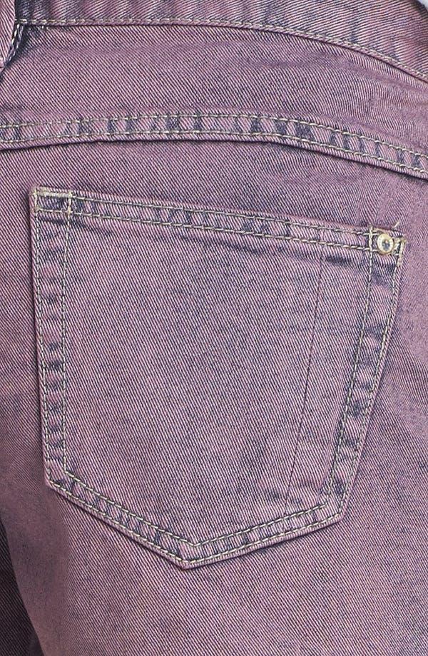 Alternate Image 3  - Free People Overdyed Cutoff Denim Shorts (Lavender Haze)