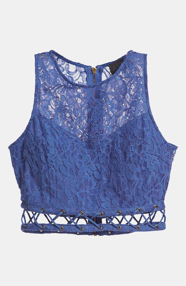 Alternate Image 1 Selected - ASTR Lace Crop Top