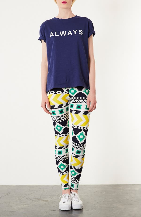 Alternate Image 4  - Topshop Geometric Print Leggings
