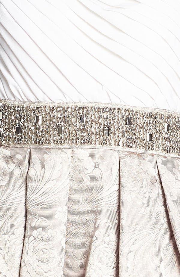 Alternate Image 3  - Eliza J Embellished One Shoulder Fit & Flare Dress