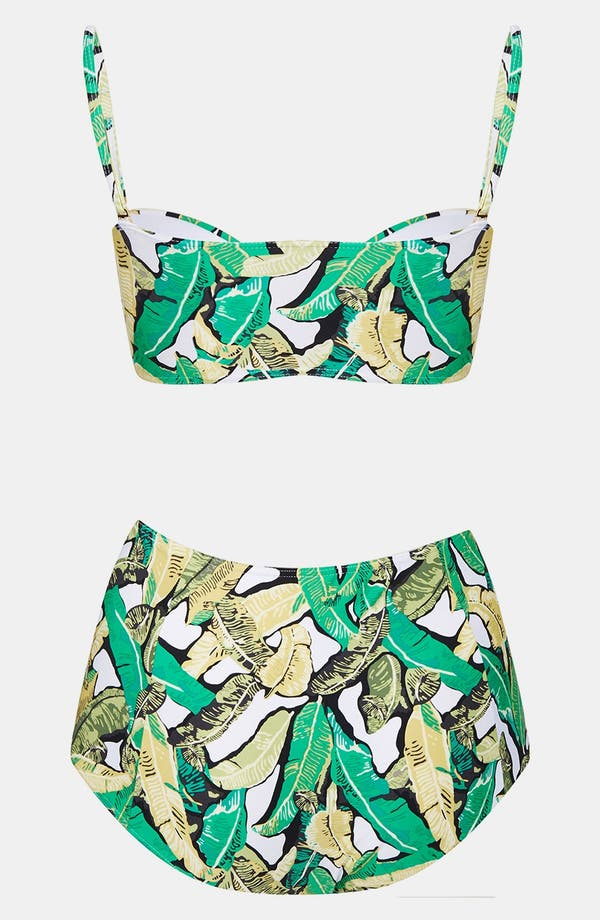 Alternate Image 2  - Topshop Banana Leaf Bikini