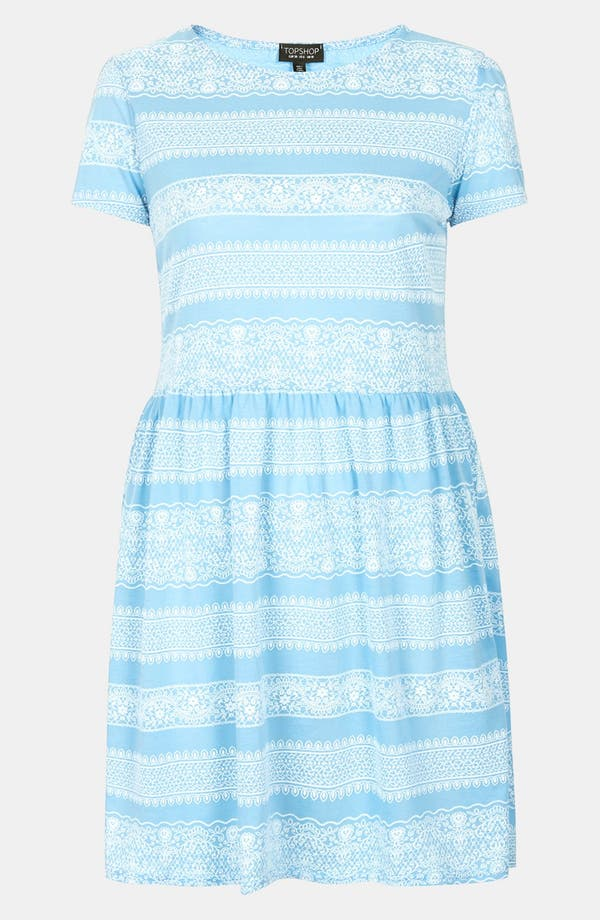 Alternate Image 3  - Topshop Lace Print Skater Dress