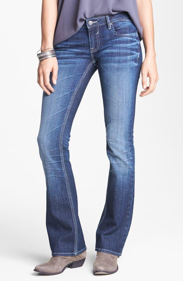 Alternate Image 2  - Vigoss Flap Pocket Bootcut Jeans (Dark) (Juniors)