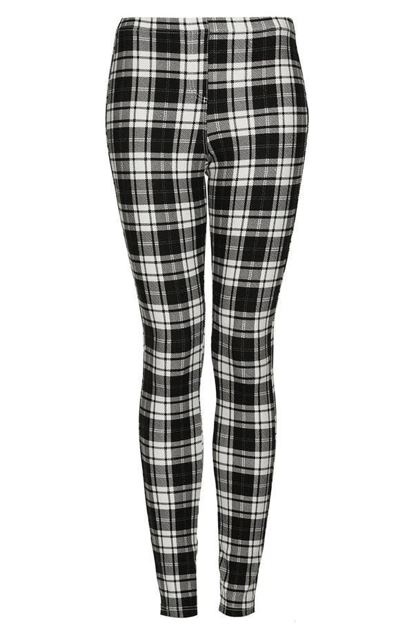 Alternate Image 3  - Topshop Checkered Denim Leggings