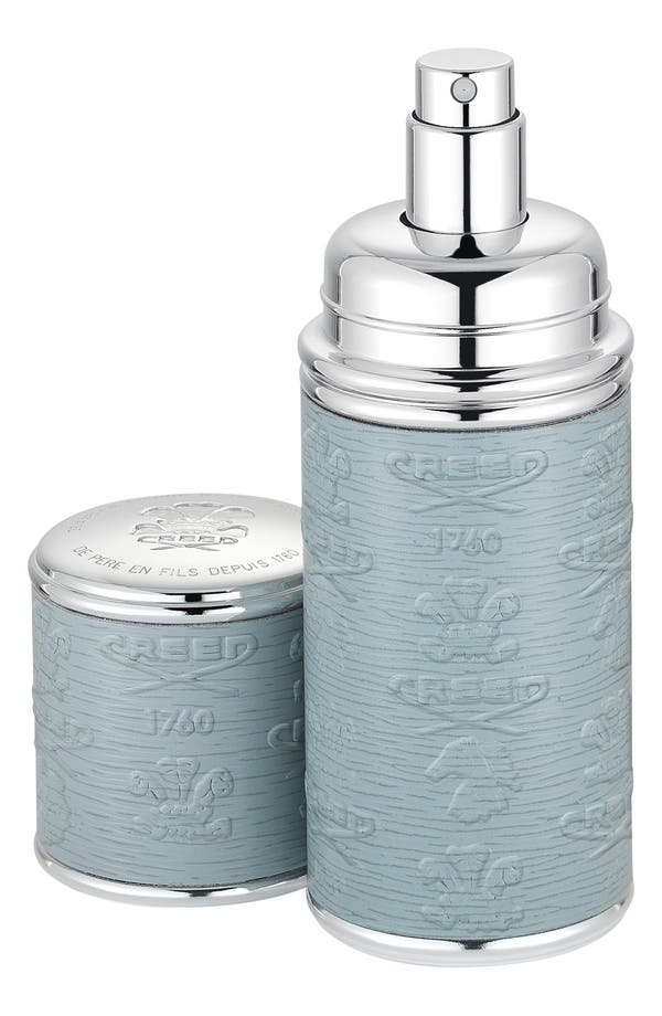 Grey with Silver Trim Leather Atomizer,                         Main,                         color, No Color