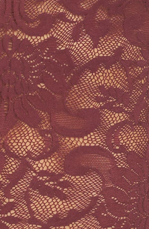 Eliza Off the Shoulder Lace Bodysuit,                             Alternate thumbnail 5, color,                             Tawny Port