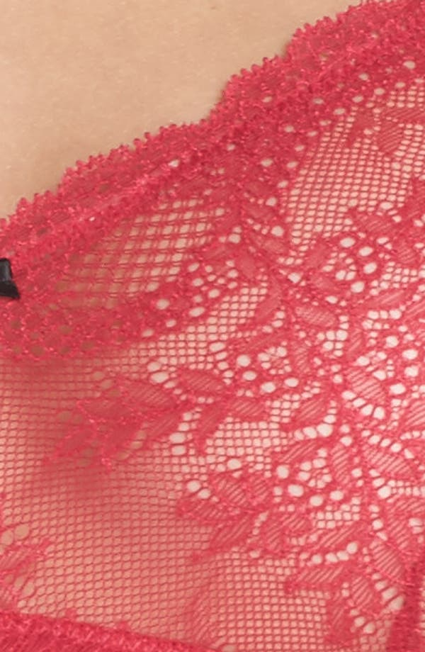Lacy Glam Lace Underwire Bra,                             Alternate thumbnail 6, color,                             Persian Red