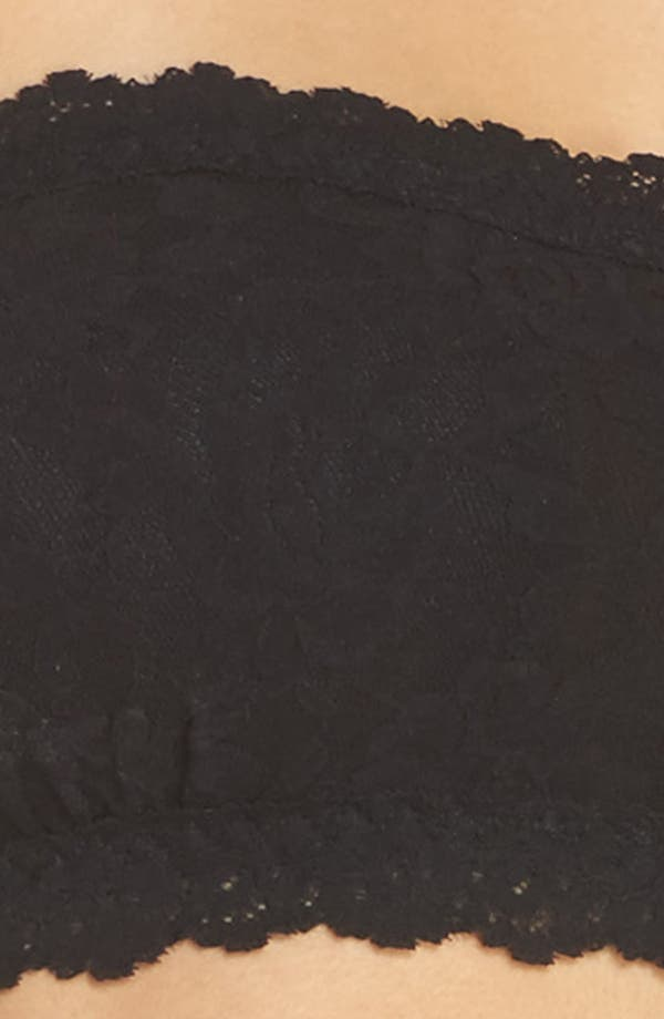 Signature Lace Padded Bandeau Bra,                             Alternate thumbnail 9, color,                             Black