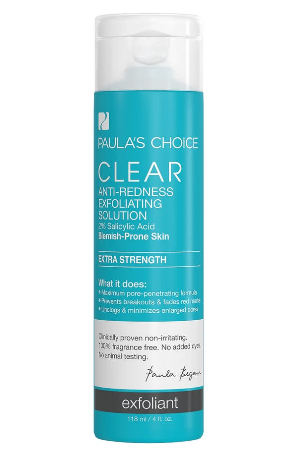 Clear Extra Strength Anti-Redness Exfoliating Solution,                         Main,                         color, No Color