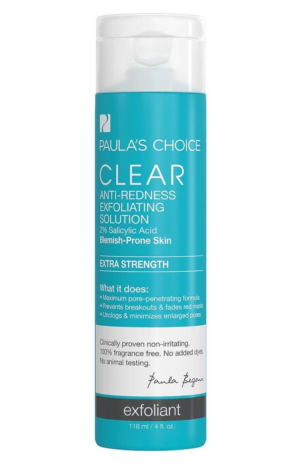 Clear Extra Strength Anti-Redness Exfoliating Solution,                         Main,                         color, No Color