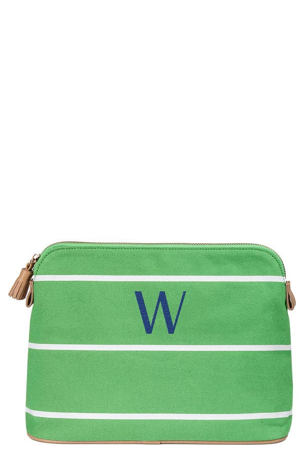Monogram Cosmetics Bag,                         Main,                         color, Green - W