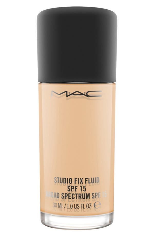 MAC M·A·C Studio Fix Fluid Foundation SPF 15,                             Main thumbnail 1, color,                             Nc20 Light Neutral Golden