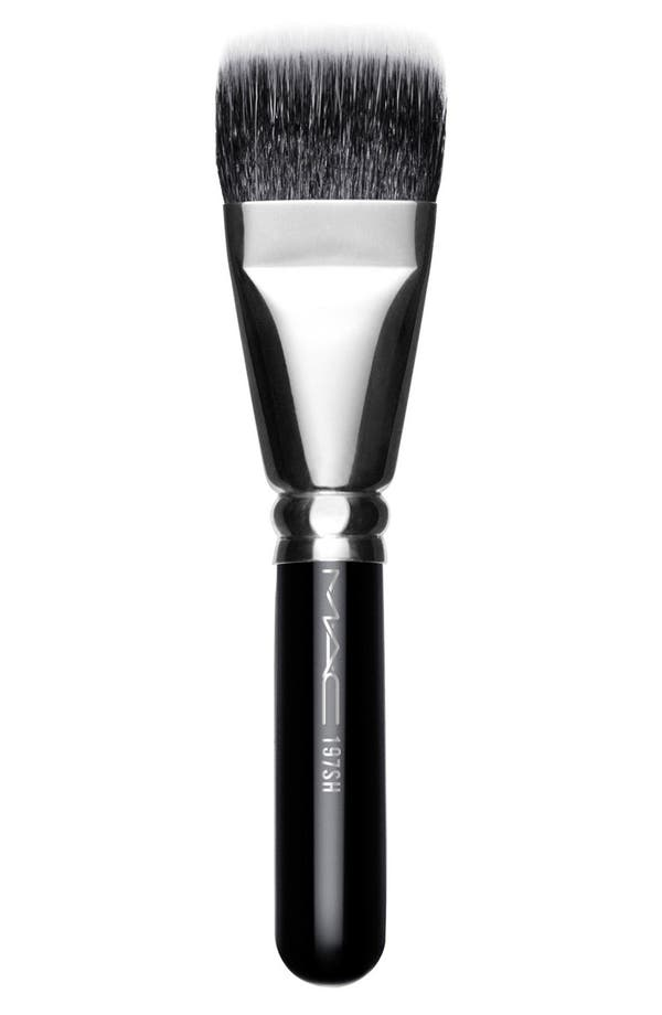 MAC 197 Short Handle Duo Fibre Square Brush,                             Main thumbnail 1, color,                             No Color