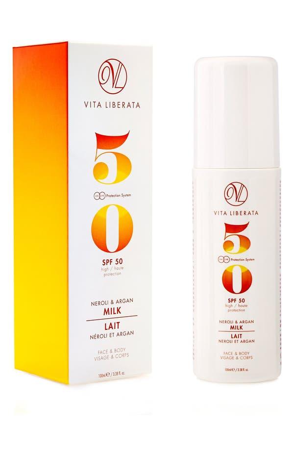 Neroli & Argan Milk for Face & Body SPF 50,                             Alternate thumbnail 2, color,                             No Color