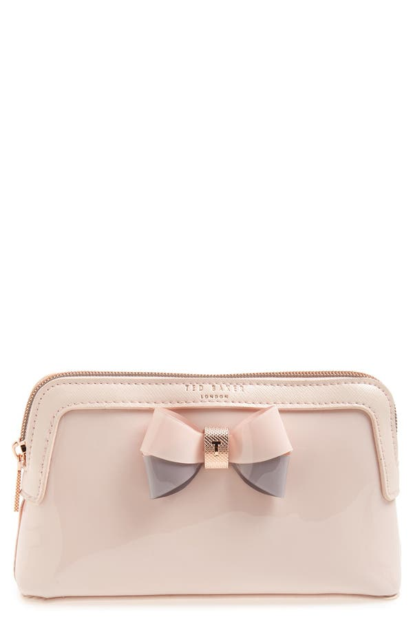 'Rosamm' Cosmetics Case,                         Main,                         color, Pale Pink