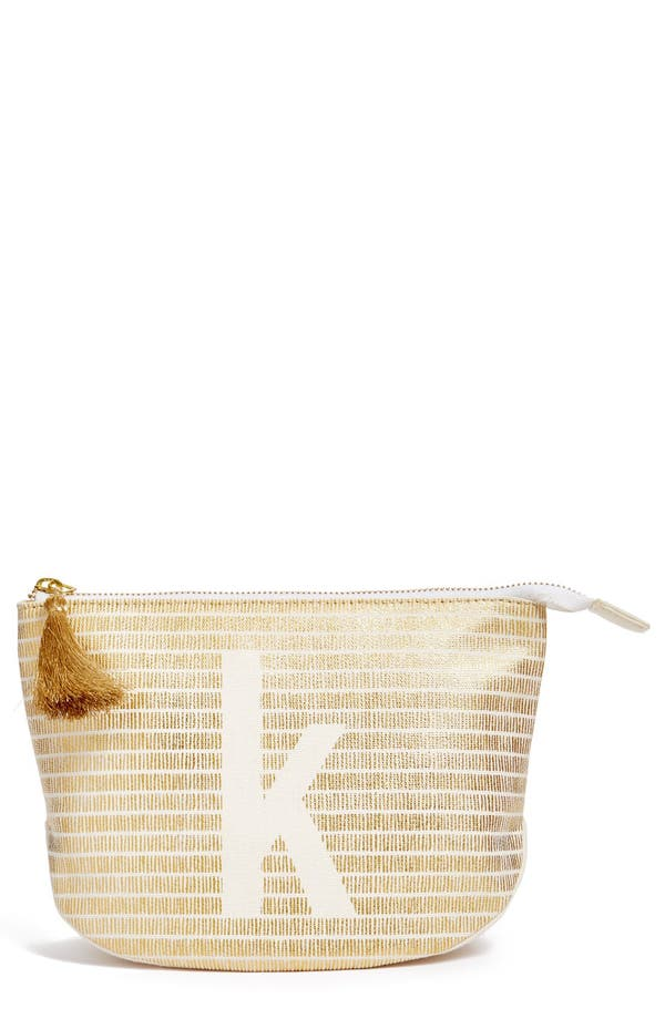 Main Image - Nordstrom at Home Monogram Zip Top Pouch