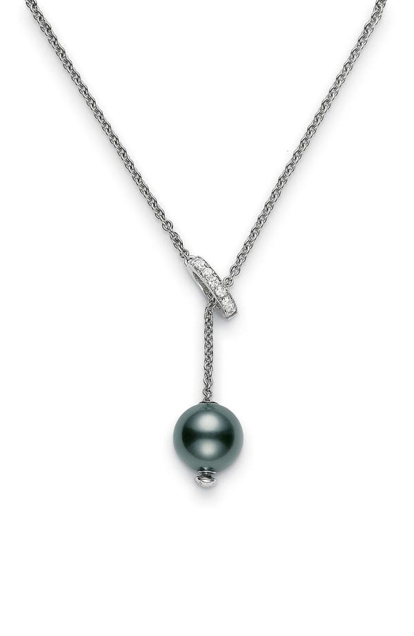 Alternate Image 1 Selected - Mikimoto 'Pearls in Motion' Black South Sea Cultured Pearl & Diamond Necklace