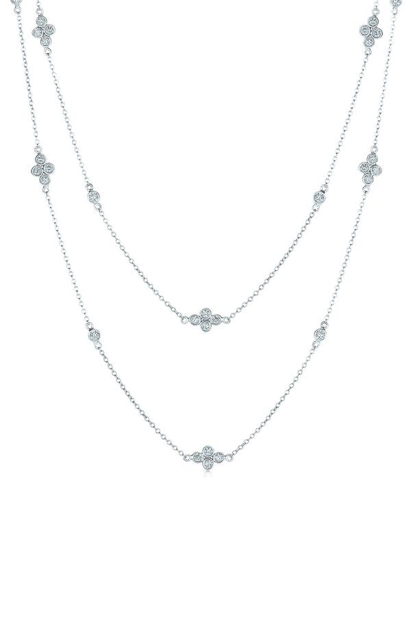 'DIAMOND STRINGS' LONG DIAMOND STATION NECKLACE