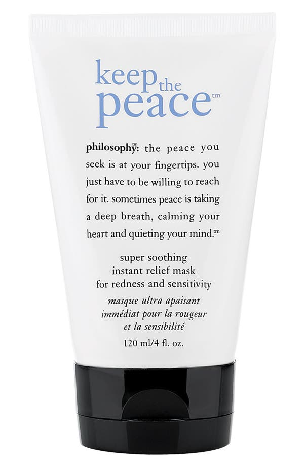 Main Image - philosophy 'keep the peace' super soothing instant relief mask for redness and sensitivity