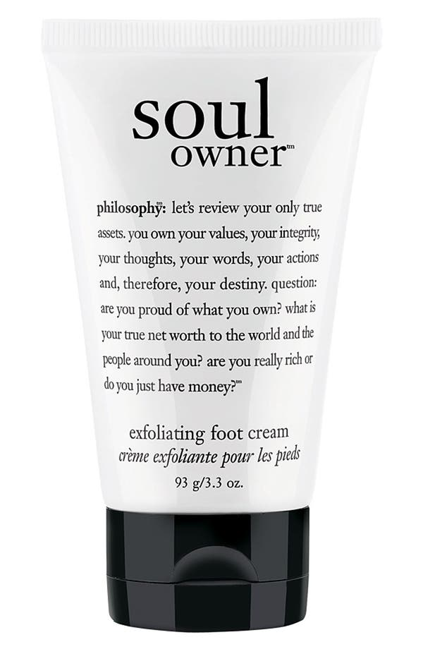 Main Image - philosophy 'soul owner' foot cream