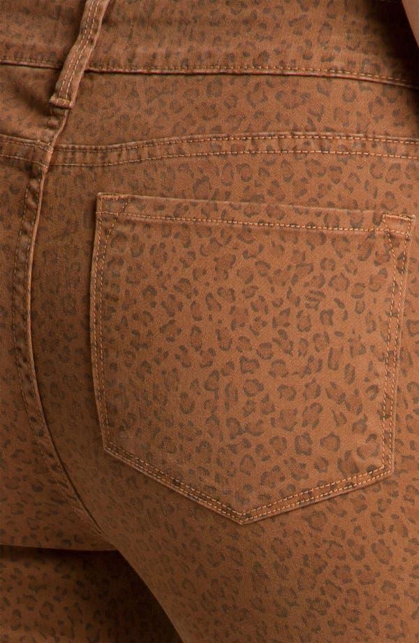 Alternate Image 3  - NYDJ 'Alisha' Leopard Print Twill Ankle Jeans